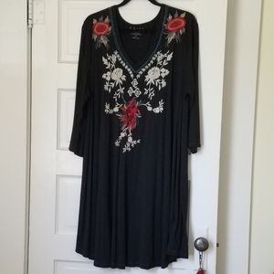 Caite Embroidered Dress 1X-new w/o tags